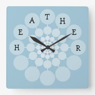 HEATHER Modern Fun Name Clock