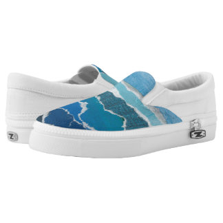 "Heather Pierce ""Water"" Challenge Slip-On Sneakers"