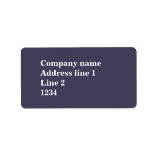Heather purple label
