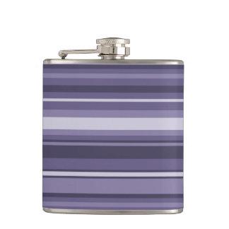 Heather purple stripes flasks