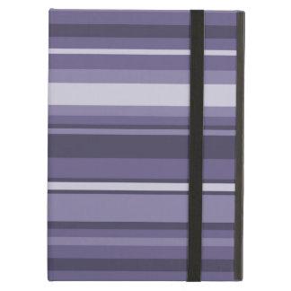 Heather purple stripes iPad air cover