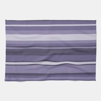 Heather purple stripes kitchen towel