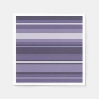 Heather purple stripes paper napkins