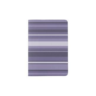 Heather purple stripes passport holder