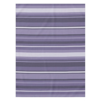 Heather purple stripes tablecloth