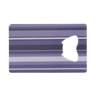 Heather purple stripes wallet bottle opener