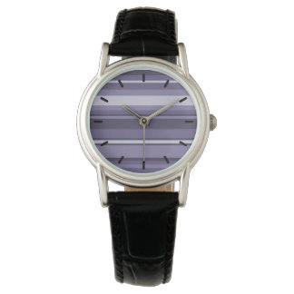 Heather purple stripes wristwatch