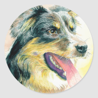 Heather the Border Collie Stickers