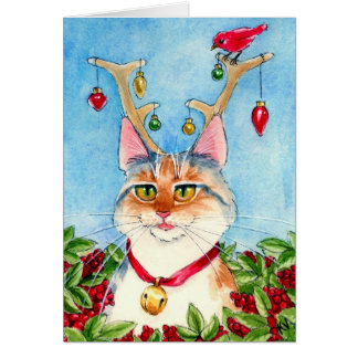 Heather the pink-nosed reincat card