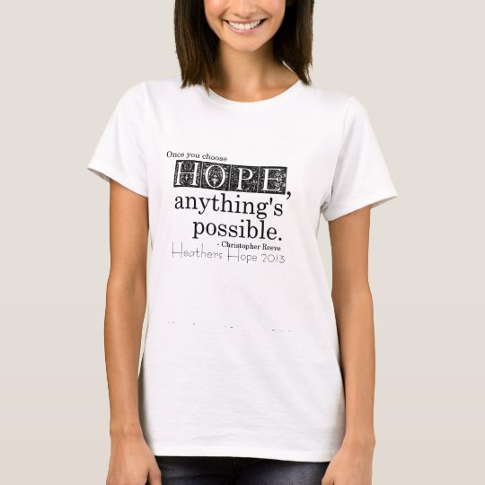 Heathers Hope 2013 tshirt fundraiser