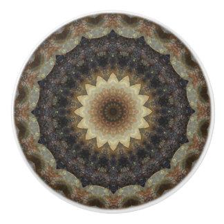 Heathery Pastels Seashells Mandala Ceramic Knob