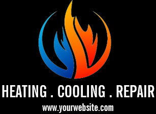 Heating cooling business cards profile cards zazzle ca heating air conditioning cooling business card reheart Images