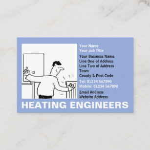 Plumbing and heating business cards business card printing zazzle ca heating engineers cartoon business card reheart Choice Image