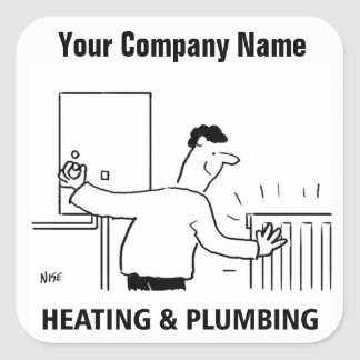 Heating & Plumbing Services Cartoon Stickers