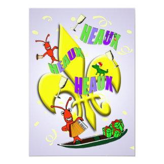 Heaux, Heaux, Heaux Cajun Christmas Party Card