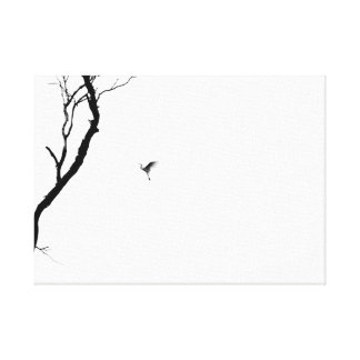 Heaven and Earth/ Bird Flying to a Tree/ Zen Photo Canvas Print
