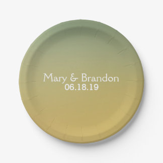 Heaven and Earth Watercolor Wedding 7 Inch Paper Plate