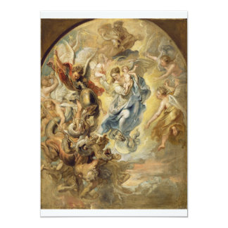 """Heaven and Hell 5"""" X 7"""" Invitation Card"""