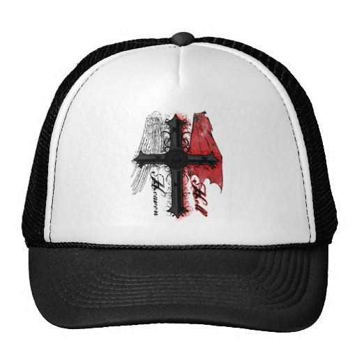 Heaven and Hell Trucker Hats