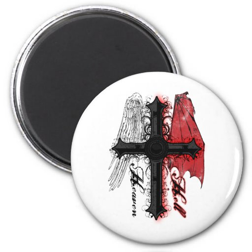 Heaven and Hell Refrigerator Magnets