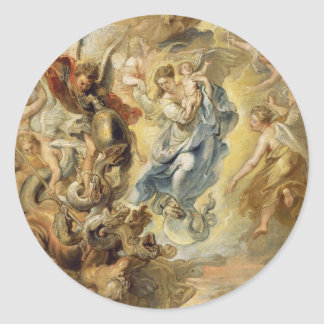 Heaven and Hell Round Sticker
