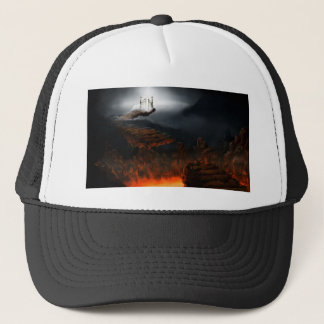 Heaven and hell trucker hat
