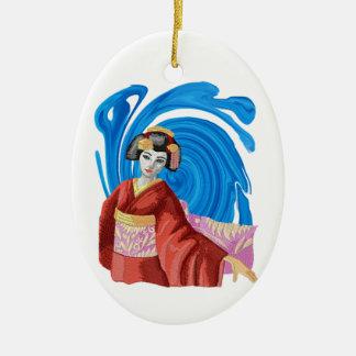 Heaven Awaits Ceramic Oval Ornament
