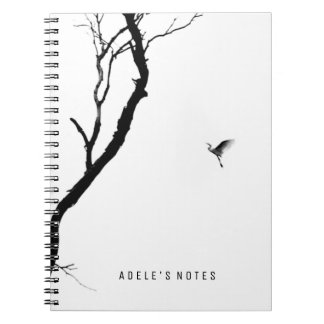 Heaven & Earth/ Bird Flying to a Tree Personalized Notebook