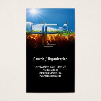 Heaven Hell Religious Pastor Church Business Card