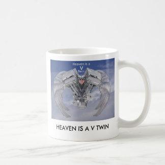 Heaven is a V Twin Mugs