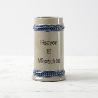 Heaven is Milwaukee 18 Oz Beer Stein