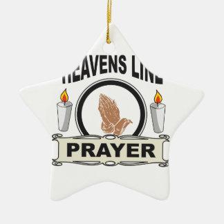 heaven line ceramic ornament