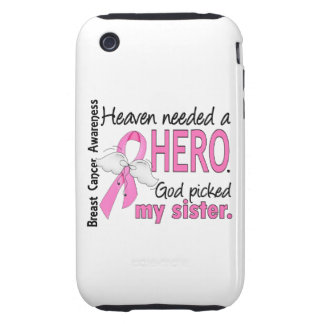 Heaven Needed A Hero Sister Breast Cancer iPhone 3 Tough Cover