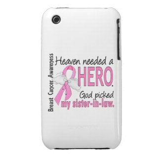 Heaven Needed A Hero Sister-In-Law Breast Cancer Case-Mate iPhone 3 Case