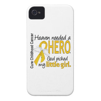 Heaven Needed Hero Little Girl Childhood Cancer iPhone 4 Case-Mate Cases