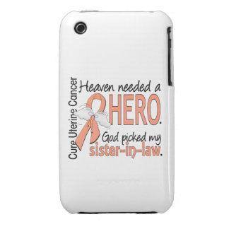 Heaven Needed Hero Uterine Cancer Sister-In-Law iPhone 3 Case