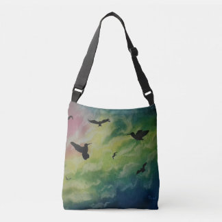Heaven Of Birds Crossbody Bag