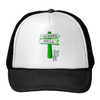 Heaven or hell concept trucker hats