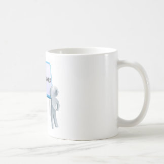 Heaven or hell sign coffee mugs