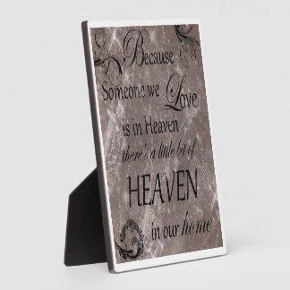 heaven plaque