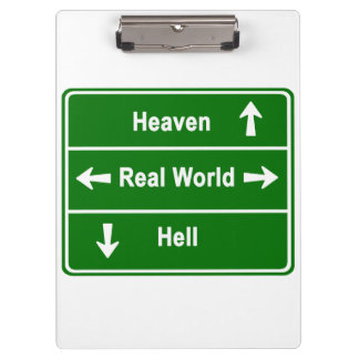 Heaven, real world & hell clipboards