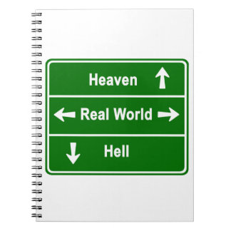 Heaven, real world & hell note book
