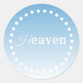 Heaven Round Sticker
