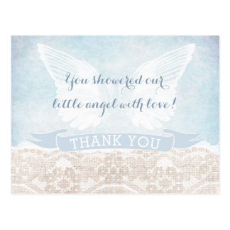 Heaven Sent Thank You Note Baby Shower Communion Postcard