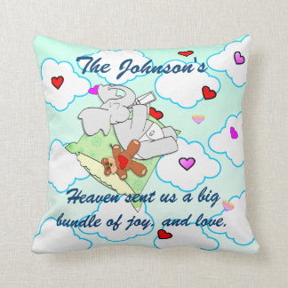 Heaven sent us Love  and Joy Throw Pillow