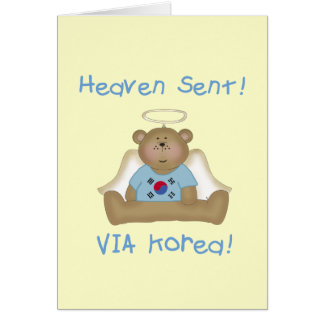 Heaven Sent  Via Korea  (boys version) Card