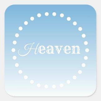 Heaven Square Sticker
