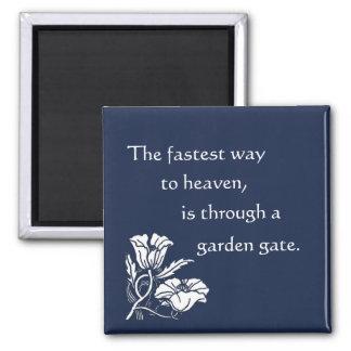 Heaven through a Garden Gate Magnet