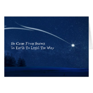 Heaven To Earth Christian Believer Christmas Card