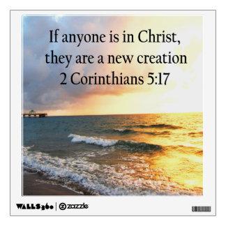 HEAVENLY 2 CORINTHIANS 5:17 OCEAN PHOTO DESIGN WALL DECAL